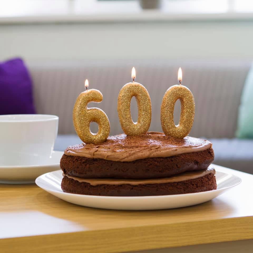 600 pets celebration cake